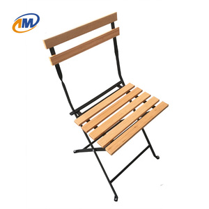 Commercial Cheap White Metal Wood Bamboo Folding Chair Factory Used Event/Garden