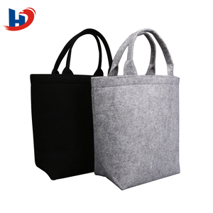 Non Woven Wooden Handle Shopping Bag Tote With Compartment