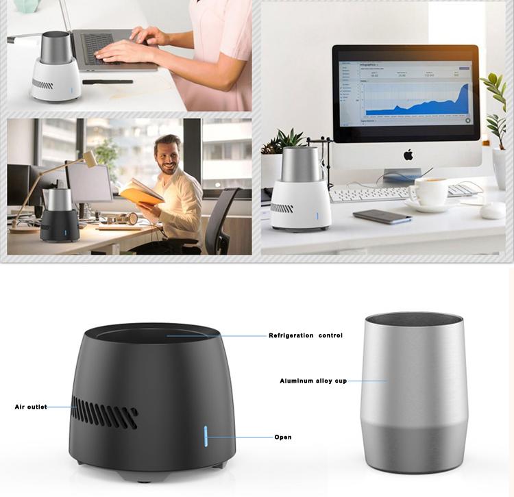 desktop quick drink cooler refrigerator portable trendy innovative creative cooling cup for water beer juicy
