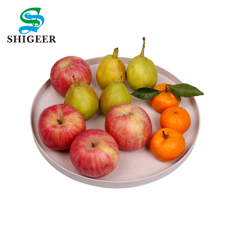 High Quality Customized Multicolor Flower Shape Wheat Straw Fruit Plate Candy Dish
