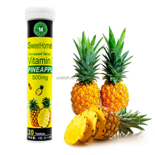 OEM effervescent tablets 20 Vitamin C 500mg Pineapple natural formula Immune Supplement