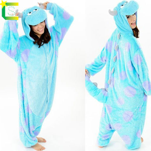 Monster university cosplay costumer sulley adults onesie for halloween christmas party 2014