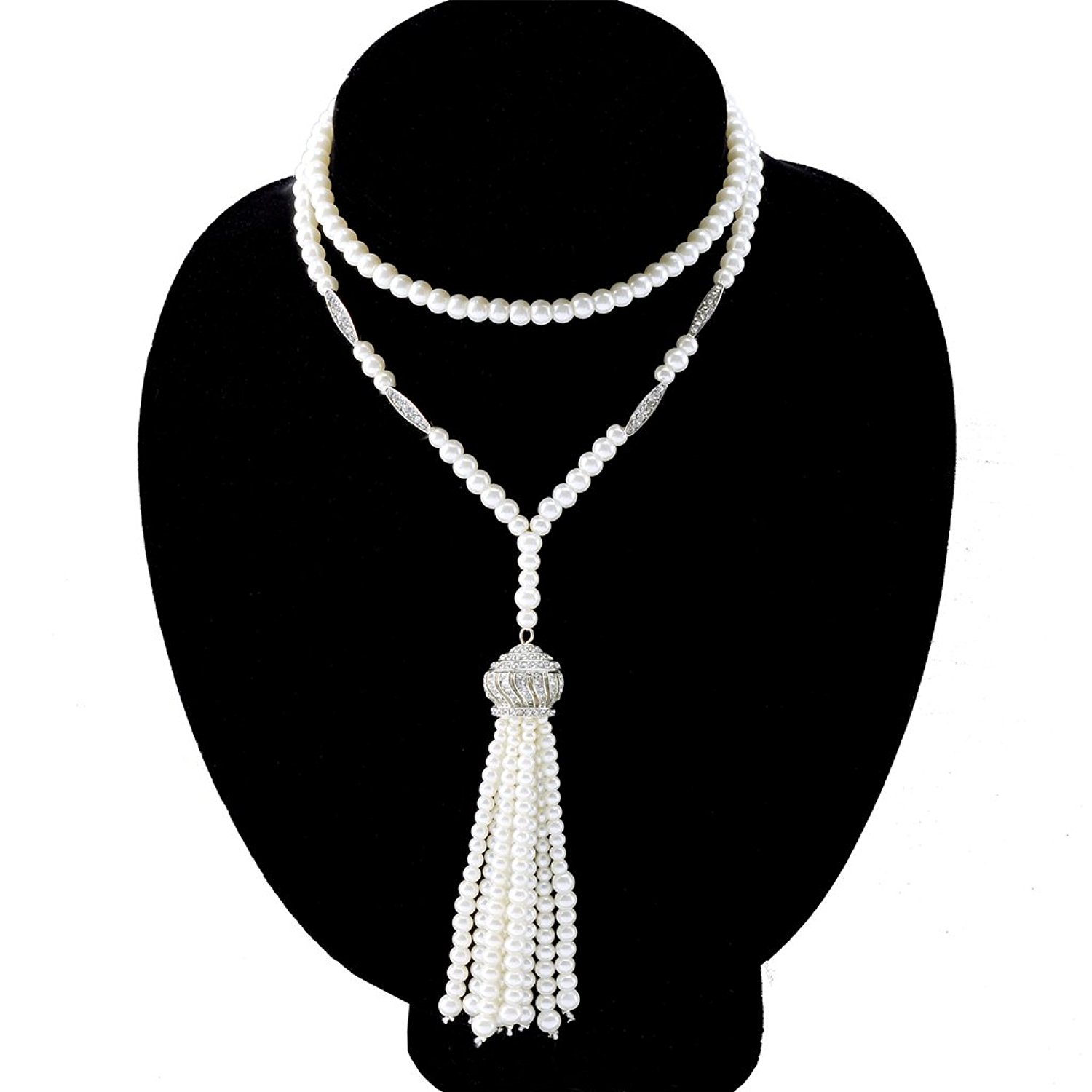 cheap flapper pearls find flapper pearls deals on line at alibaba 1920 Flapper Hat get quotations babeyond art deco 1920 s flapper great gatsby inspired crown tassel necklace of imitation pearls