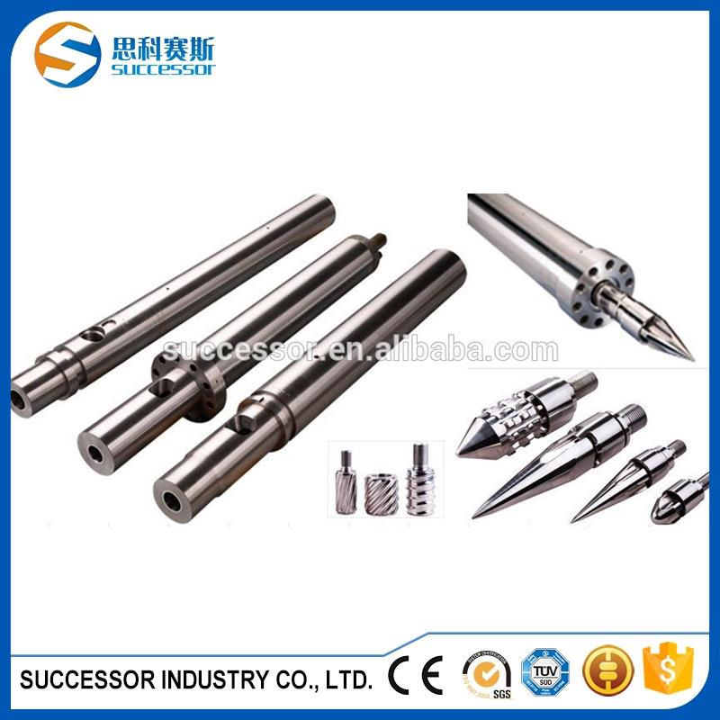Injection screw and barrel for plastic injection molding machine
