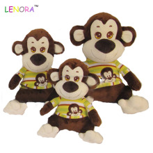 Factory sale new promotione gift monkey design with colorful colth stuff plush toy