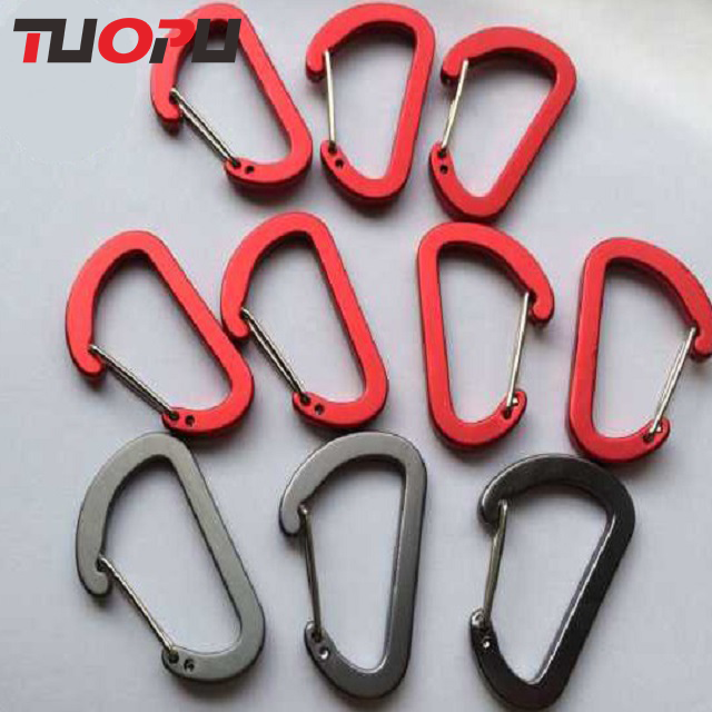 Gate bottle gourd shaped aluminum locking carabiner made in China