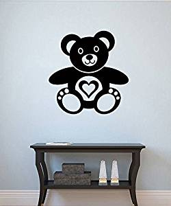 Teddy Bear Vinyl Decal Teddy Bear Wall Sticker Nursery Wall Decor Wall Art Decorations (5tybr)