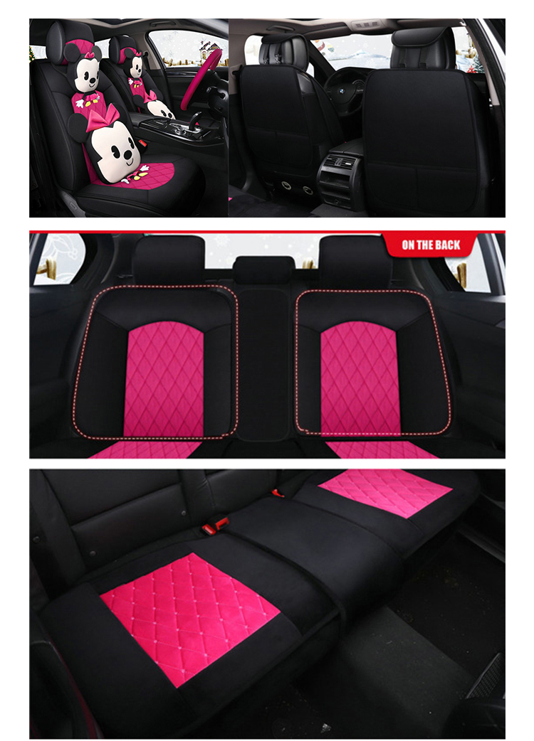 ZT-M-032 With Cartoon picture suede turkey car seat protector 3D cover