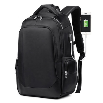 2019 High quality black backpack polyester backpack 15.6 inch laptop bags for men