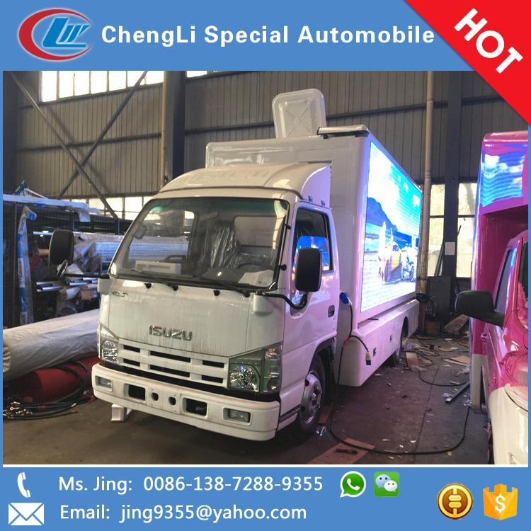 Hot Selling led screen dispaly van led mobile advertising trucks for sale in Tuvalu