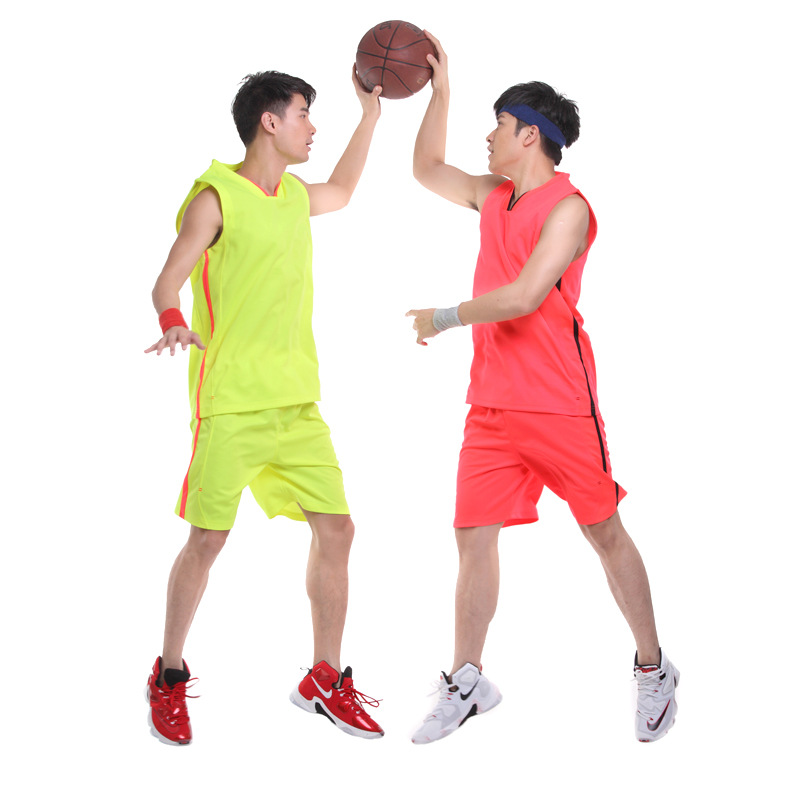 Wholesale basketball jersey and shorts college team baketball jersey custom print basketball wear man sport shirt 100% polyester