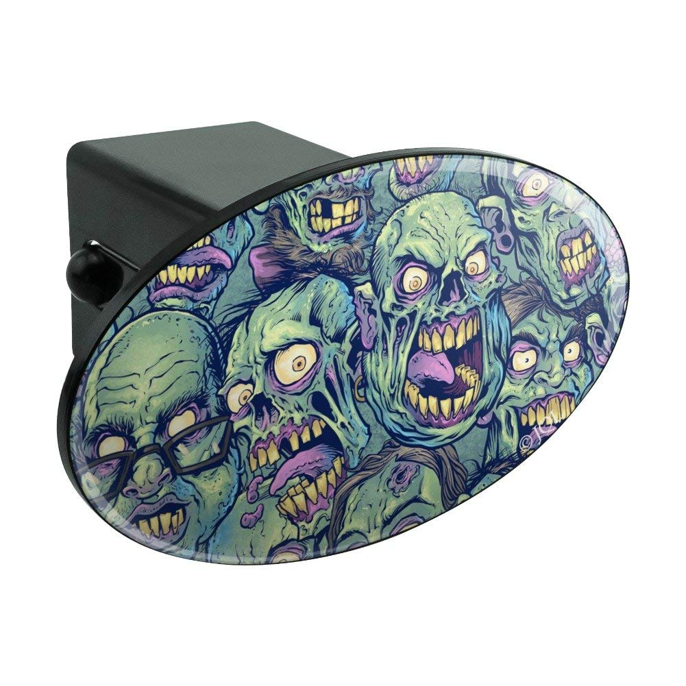"""Graphics and More Zombie Pattern Dead Corpses Undead Horror Oval Tow Hitch Cover Trailer Plug Insert 2"""""""