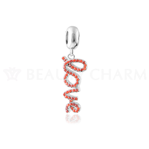 Sterling love silver jewelry finding lover pendant