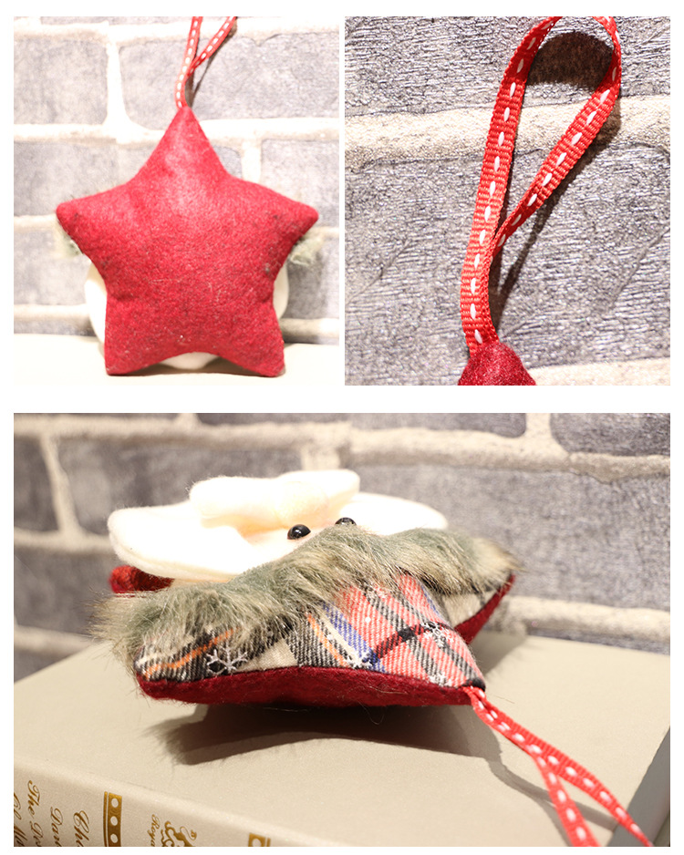 Export of hot new Window decoration Christmas tree pendant Halloween gifts Mini Santa Claus Pentagram pillow