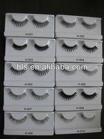 OEM service 100% human hair made natural false eyelash