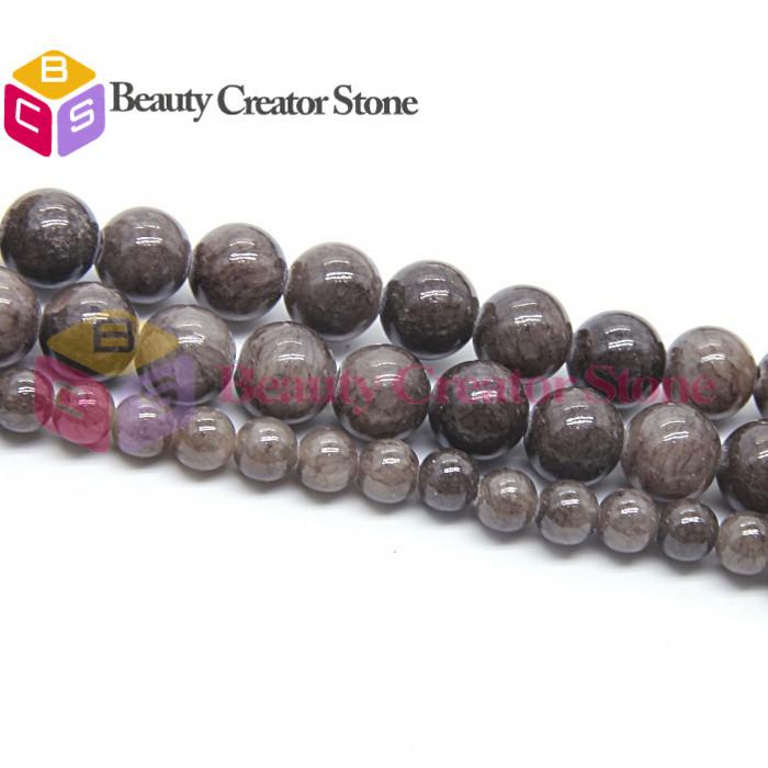 gro handel hochwertige schwarzen kaffee nat rliche jade stein runde perlen 8 10mm 15 zoll strang. Black Bedroom Furniture Sets. Home Design Ideas
