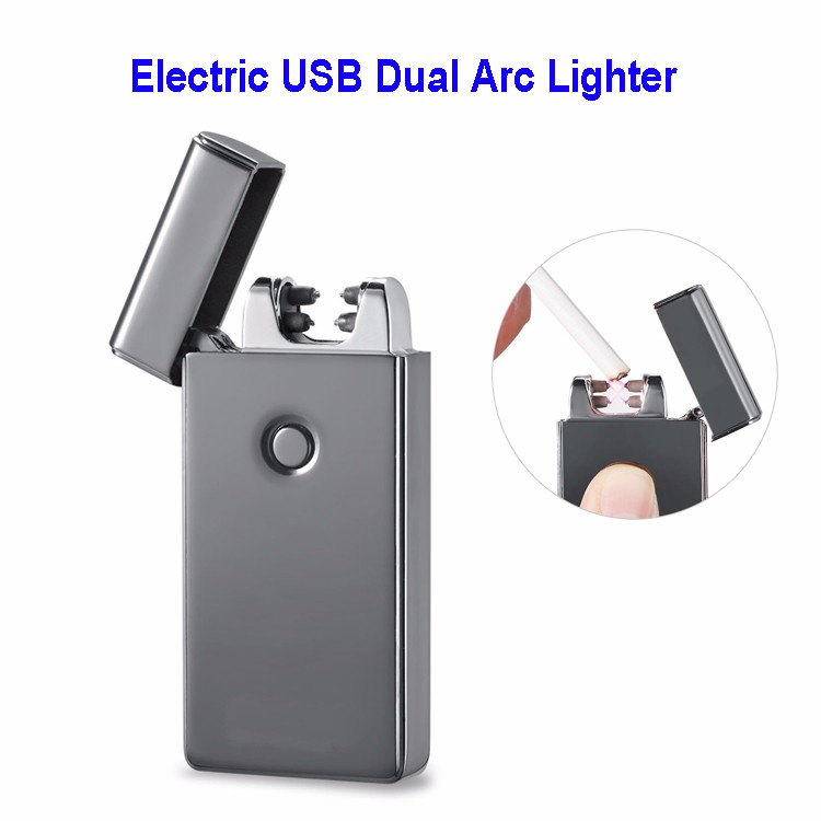 2017 Hot New Products Electric Windproof Dual Arc Cigarette USB Lighter
