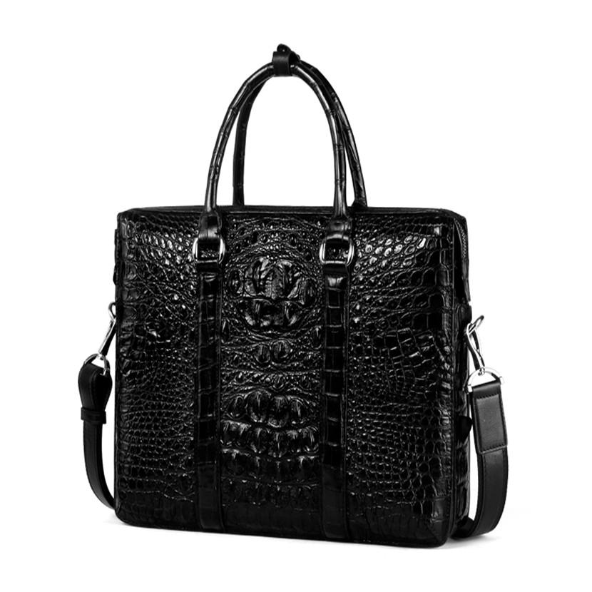 2020 Hot sale shoulder mens laptop briefcase Genuine Leather Men's Handbags Tote Designer Business Bags