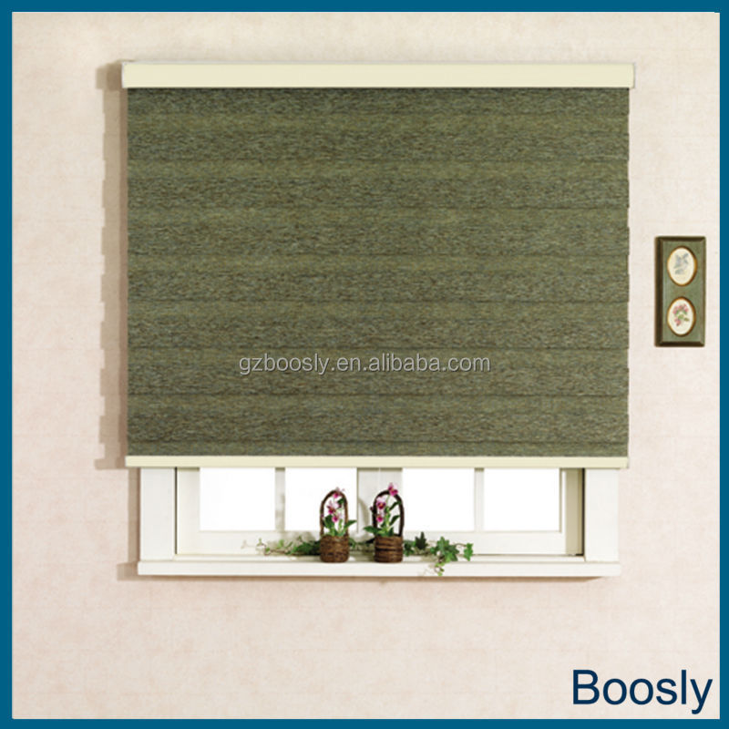 Boosly manual zebra blinds with blackout fabrics