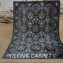 Yilong 5'x7.3' Blue all-over handmade carpet customized indian hand knotted rugs