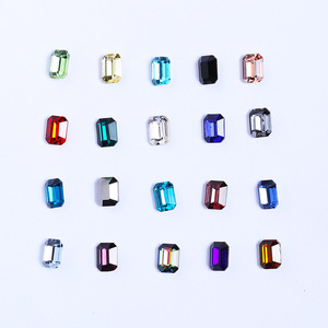 6*8mm Rectangle Glass non hot fix rhinestone without hole