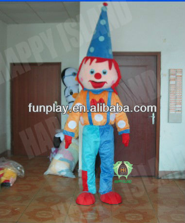 HI CE High Quality clown mascot costume