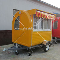 No pay rent store convenient food cart street vending carts made in China