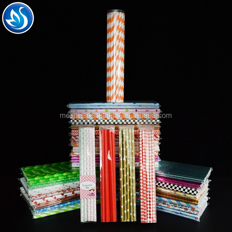 197mm 6mm Biodegradable Disposable Eco-friendly Paper Straight Straws