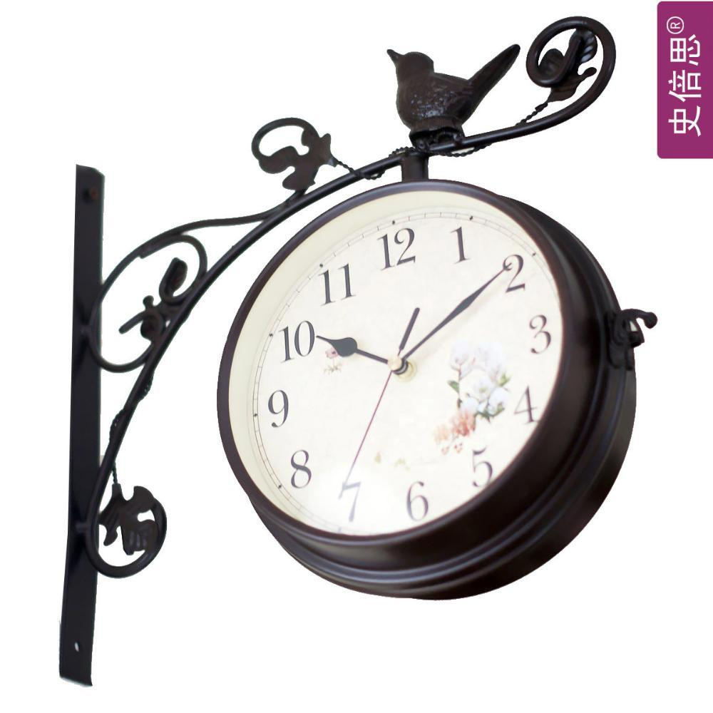 Dial 8inch wall metal clock with double faced