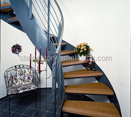 European Fashion Curve Shape Stair,Solid Wood Spiral Staircase,L ...