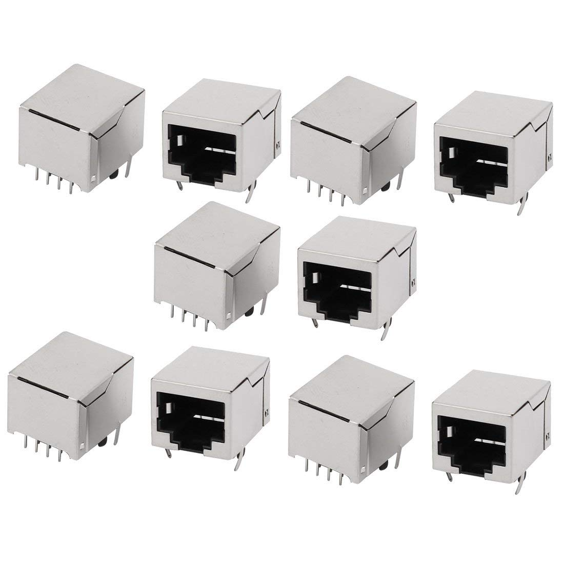 uxcell RJ45 8P8C Female PCB Mounting Modular Jack Ethernet Network Connector 10pcs