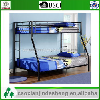 Metal Iron Bed Cheap Furniture Bedroom Double Deck Beautiful Strong