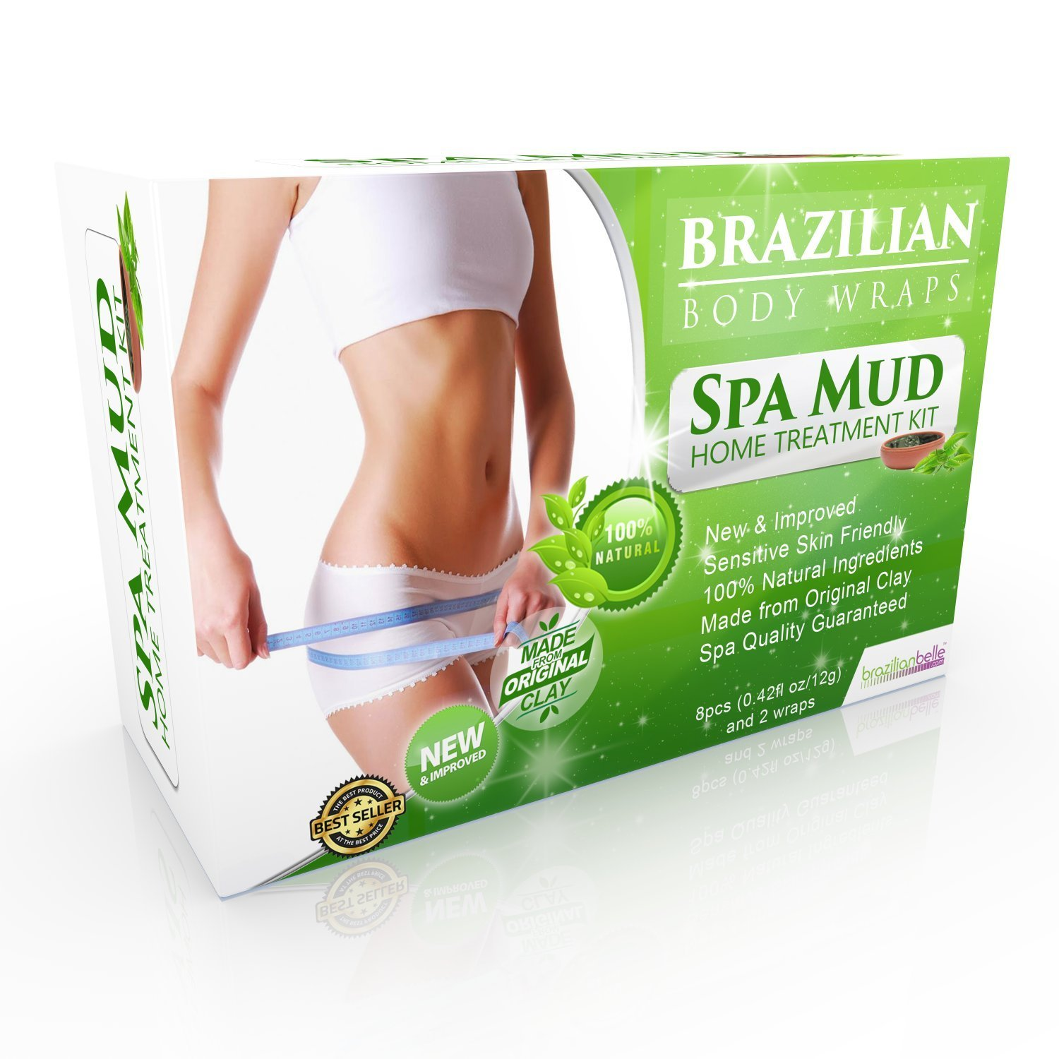 2dde518cd8 Get Quotations · Brazilian Body Wraps - Spa Mud Home Treatment Kit for  Women Slimming Home Spa Treatment for