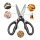Tecellence Professional Stainless Steel Multi-function Utility Kitchen Meat Shears Scissors
