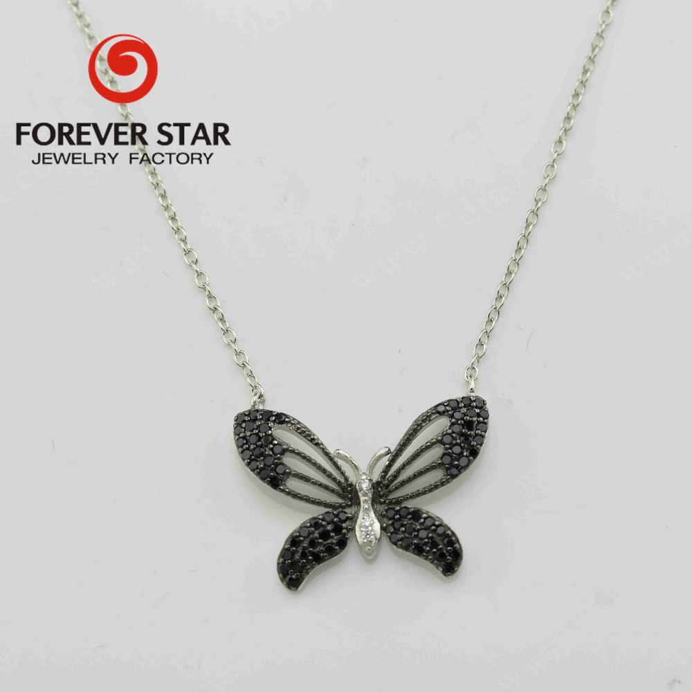 express ali jewelry 925 silver butterfly CZ custome pendant