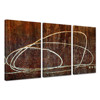 Abstract Lines Oil Painting on Canvas/Triptych Handmade Painting Home Decor/Original Hand Painted Art