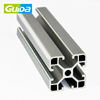 China Guida top quality factory x-type led extrusion custom aluminium profile