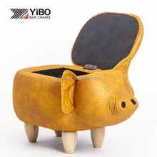 Yb 004 Home Furniture Pig Shoes Changing Wooden Stool Chair Footstool Animal Shaped Ottoman