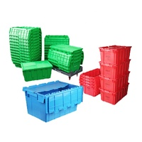 Turnover Box Logistics Box Attached Lid Containers Plastic Storage Box