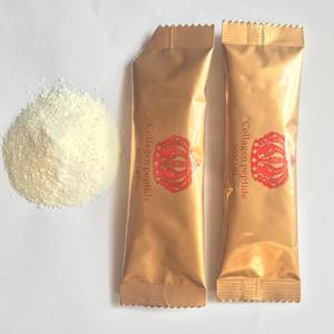 Fish collagen peptide powder 6000mg in sachet with hyaluronic acid, coenzyme Q10, Vitamin C
