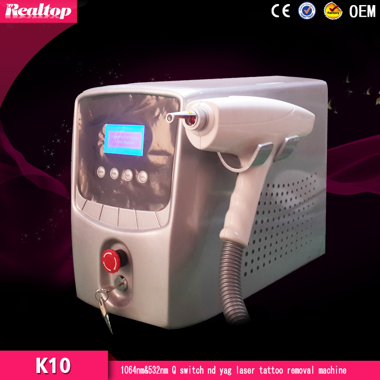 Factory Direct Wholesale, Portable Q Switch ND Yag Laser Alexandrite Laser machine for Tattoo Removal Laser for Sale