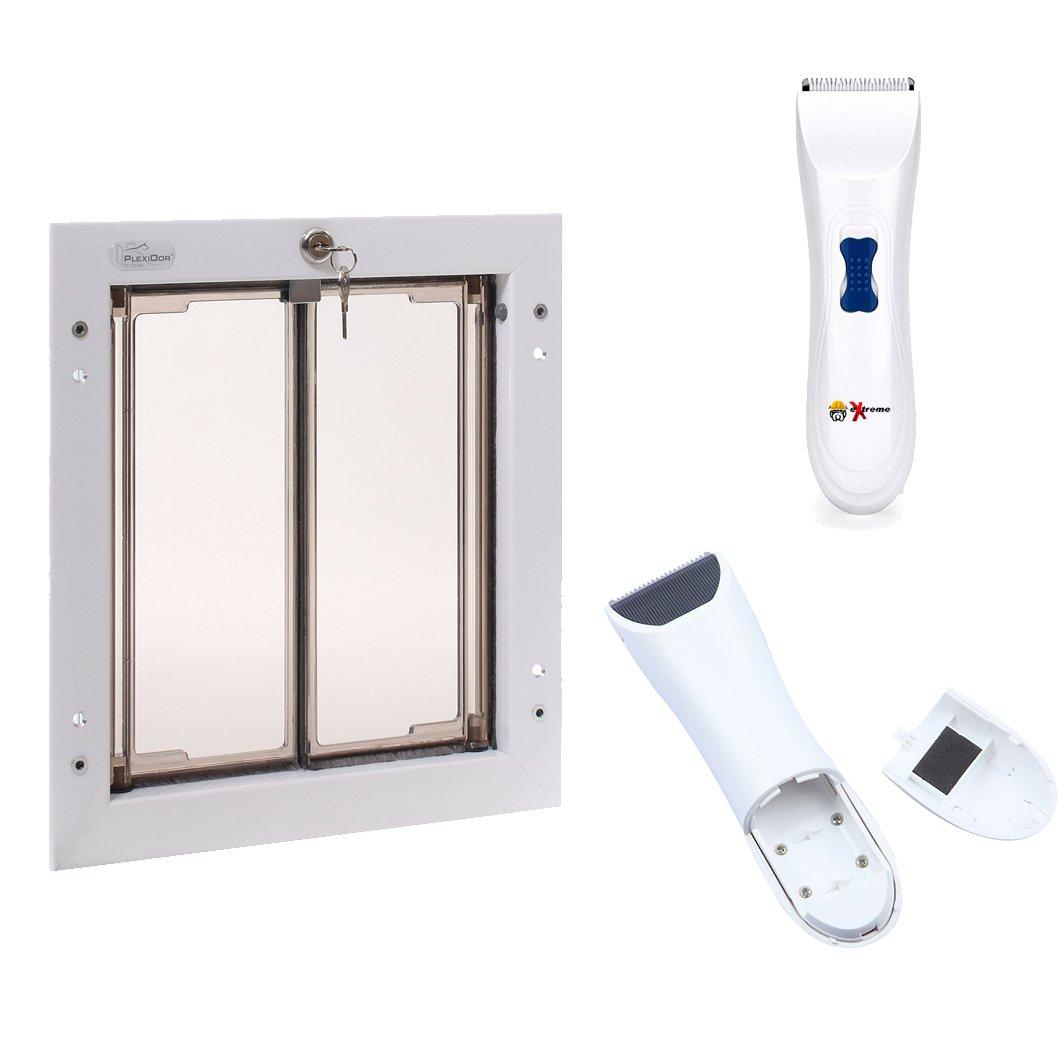 Get Quotations Plexidor Weatherproof Dog Doors Energy Efficient Pet With Steel Security Panel To Lock Doggie
