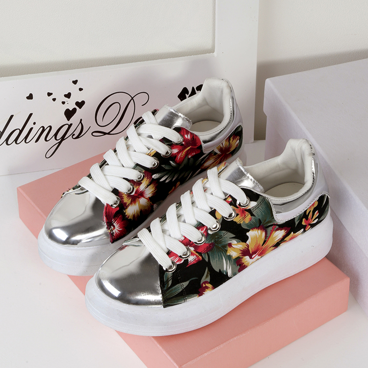 Popular Floral Platform Sneakers-Buy Cheap Floral Platform