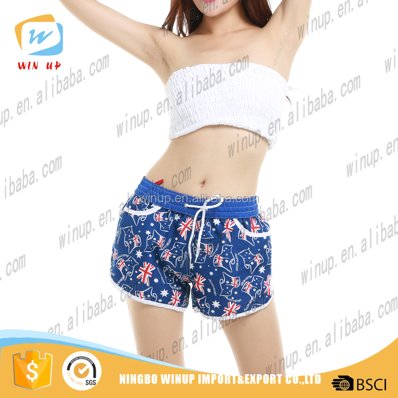 OEM Manufacturer customized casual women Gray French Terry beach shorts