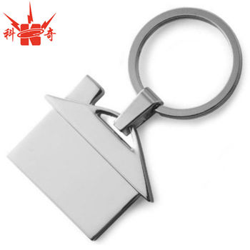 Personalized Keychain House With Custom Logo On Blank Metal Keychain House  - Buy Keychain House,Key Chain House,Metal Keychain House Product on