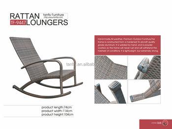 Tf 9447 Poolside Wicker Rocking Chair Aluminum Rattan Chaise Longue