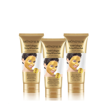 24k Gold Peel Off Facial Mask for Pores Cleansing Blackhead Remove