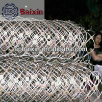 China factory supply hot sale 2mm 100*100mm SS304 ferrule rope mesh plant guide mesh/304 SS Wire Rope Mesh for decoration
