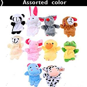 ( LittleSomething ) 10pcs Cartoon Animal Plush Finger Puppets Finger Toys Finger Dolls Animal Dolls for Children Kids - Color Assorted -----&&----- Toys / Hobbies > accessories