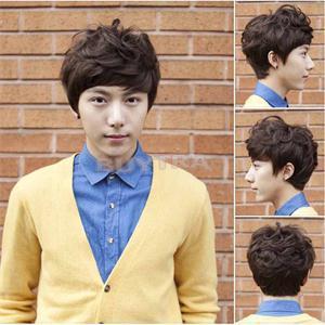 Он практическая мальчики парик корейский сексуальный короткая естественная парики мужчины парики косплей EH